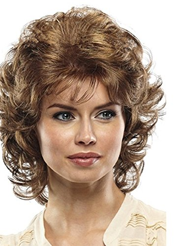 SmartFactory Short Natural Small Wavy Fluffy Curly Human Hair Wig For Ladies