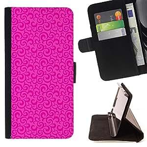 PATTERN FLORAL VINTAGE PINK WALLPAPER CLEAN/ Personalizada del estilo del dise???¡Ào de la PU Caso de encargo del cuero del tir????n del soporte d - Cao - For Apple Iphone 5 / 5S