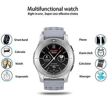 Reloj Intelligent Bluetooth Relojes de pulsera de deporte, con Pulsómetros, Cronómetro, Gps para running, Notificación de mensajes Soporte Facebook SMS ...