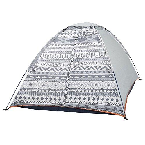 一月騒広がりMUTANG 屋外キャンプテントファミリーツーリストテント防水シェードビーチキャノピーダブルレイヤーフォーシーズンズキャンプテント