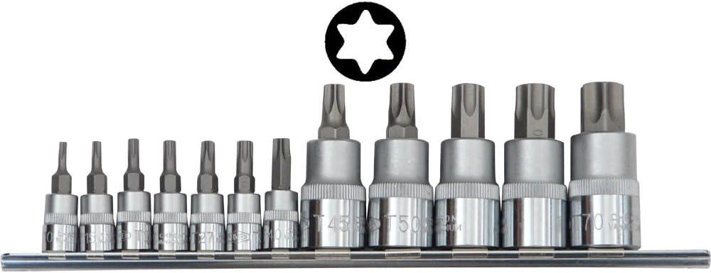 Famex 10716 - Juego de puntas para destornilladores Torx (12 ...
