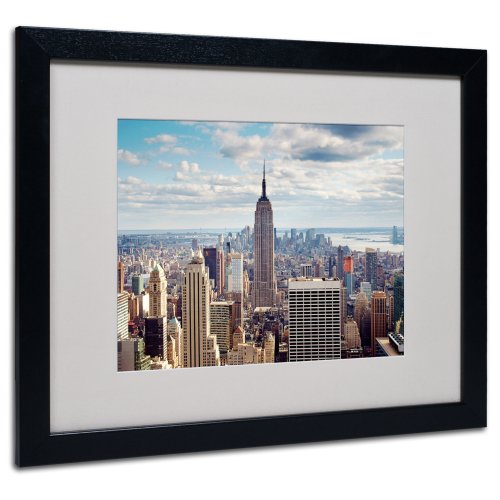 Empire View Artwork by Nina Papiorek in Black Frame, 16 by 20-Inch by Trademark Fine Art