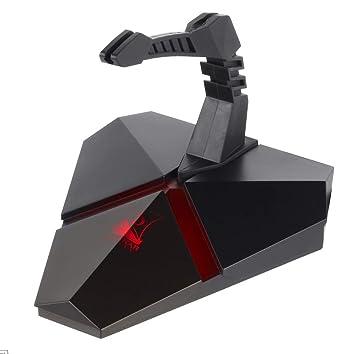 Konix drakkar Bungee ratón con Cable - Hub USB 3 Port - Soporte inalámbrico ratón Gaming - rétro-eclairage - Accesorio Gaming PC - Lector Micro SD: ...