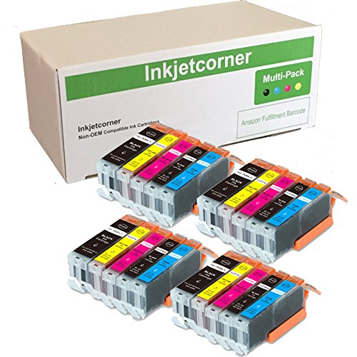 Inkjetcorner Compatible Ink Cartridges Replacement for use with MX920 MG5620 MG6620 MG5622 MG6600 iX6820 iP7220 (4 Big Black 4 Small Black 4 Cyan 4 Magenta 4 Yellow, 20-Pack)
