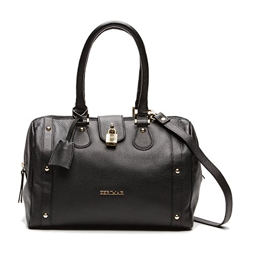 Misure21x31x16 Borsa Spalla Zerimar Getto Pelle A In Donna Da ColoreNero MorbidaGrande ED2HI9