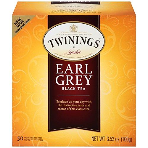 Twinings of London Earl Grey Black Tea Bags, 50 Count (Pack of 6) ()