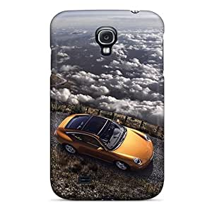 Ultra Slim Fit Hard Lajonline Case Cover Specially Made For Galaxy S4- Porsche Carrera Gt Climbing A Mountain
