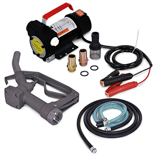 - ARKSEN 12V 10GPM Electric Diesel Oil & Fuel Transfer Extractor Pump Battery Powered 12-Volt with Fuel Nozzle & Hose Kit