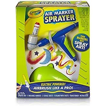 Crayola Air Marker Sprayer Set, Airbrush, Gift, Ages 8, 9, 10, 11, 12