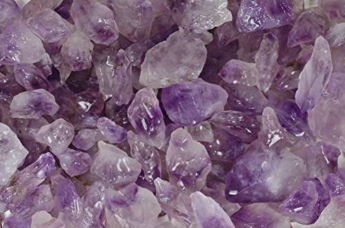 Fantasia Materials: 1 lb Amethyst Rough from Brazil -(Select from 3 Grades)- 'A' Grade Semi Point - Raw Natural Crystals for Cabbing, Cutting, Tumbling, Polishing, Wire Wrapping, Wicca & Reiki Healing