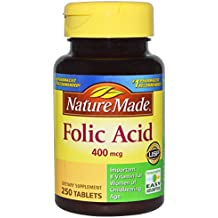 Nature Made Folic Acid 400 mcg, 250 Tablet (pack of 2)