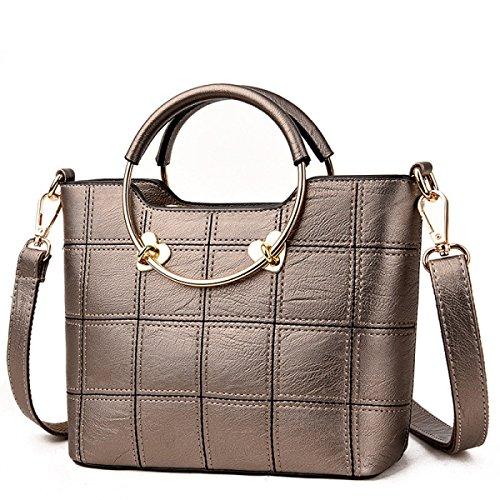 Messenger Bag Della Borsa Della Spalla Delle Donne,Bronze-OneSize