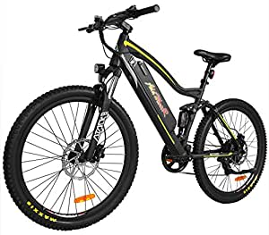 Addmotor HITHOT Electric Mountain Bicycle Sport Bike 500W 48V 11.6Ah Battery Electric Bike With Full Suspension 2018 H1 Platinum EBikes For Men(Yellow)