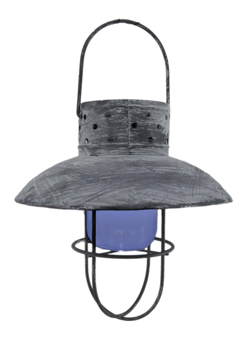 Zeckos 9'' Hanging White Solar Lantern