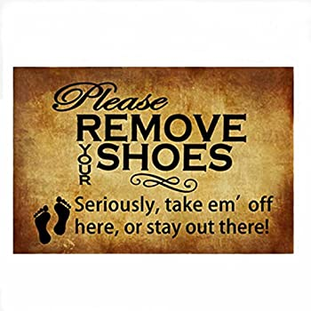 Nice Burning Love Short Plush Material Retro Please Remove Your Shoes Printed  Doormat , Non Slip