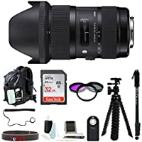 Sigma 18-35mm f/1.8 Art Lens for Nikon Cameras w/ Accessory Bundle