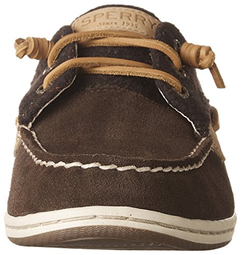 Brown Songfish Boat Shoes Brown Suede Wool Sperry Dark Women's a8PW4