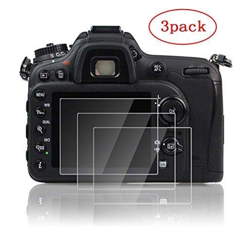 PCTC Nikon D750 D850 D760 D7100 Screen Protector Foils Camera Tempered Optical Glass Anti-Scratches Anti Dust Anti Fingerprint (3 Pack) PCTC D850