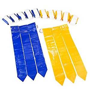 WYZworks Flag Football Set - 12 Belts, 18 Blue Flags & 18 Yellow Flags