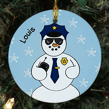 novelty ornament crafts for kids personalized police snowman ceramic ornaments for christmas decorative