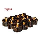 12 Pcs LED Candle Light, Scary Flickering Flameless, Safe, No Dripping Wax, No Smoke, No Scent, LED Candle for Halloween Party Home Bar Decoration