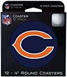 "Chicago Bears Coasters Pulpboard 4"" Round 12pk Set A500058"