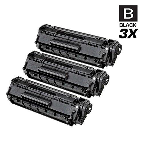 CS Compatible Toner Cartridge Replacement for Canon 104 0263B001AA Black Fax L90 L100 L140 L160 L110; Faxphone L120; imageCLASS MF4150 D420 MF4320D MF4330D MF4340D MF4350D MF4370DN MF4380DN 3 Set