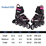 ANCHEER Inline Skates Adjustable Women Men Kids