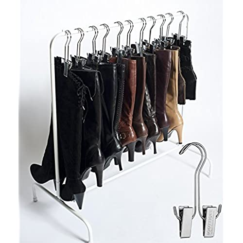 Best Selling Boot Organizer: The Boot Rack Garment U0026 Boot Rack   Fits In  Most Closets (The Boot Rack With 6 Original Hangers)