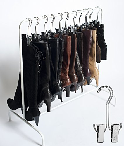 Best Selling Boot Organizer: The Boot Rack Garment & Boot Rack - Fits in Most Closets (The Boot Rack with 6 Original Hangers)