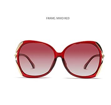 ERKEJI Gafas de Sol Mujer La Sra. De Lujo de Moda Tendencia ...