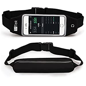Running Belts, fitTek® Running Belt Waist Pack Fanny Pack Pouch, iPhone 6 , 7 Plus Holder for Runners, Best Running Pouch Belt for Hands Free Workout