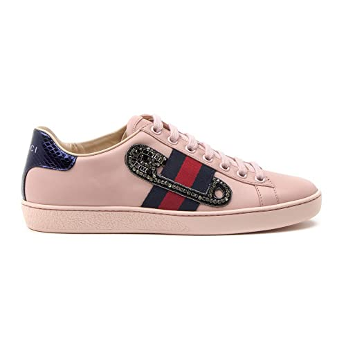 Gucci Mujer 454552A38G05962 Rosa Cuero Zapatillas: Amazon.es: Zapatos y complementos