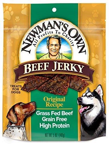 Newman's Own Organics Dog Trts,Beef Jerky,Orig 5 Oz (Pack Of 6)