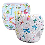 Storeofbaby 2pcs Baby Swim Diapers Reusable