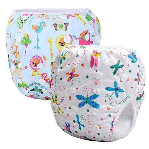 Storeofbaby 2pcs Baby Swim Diapers Reusable