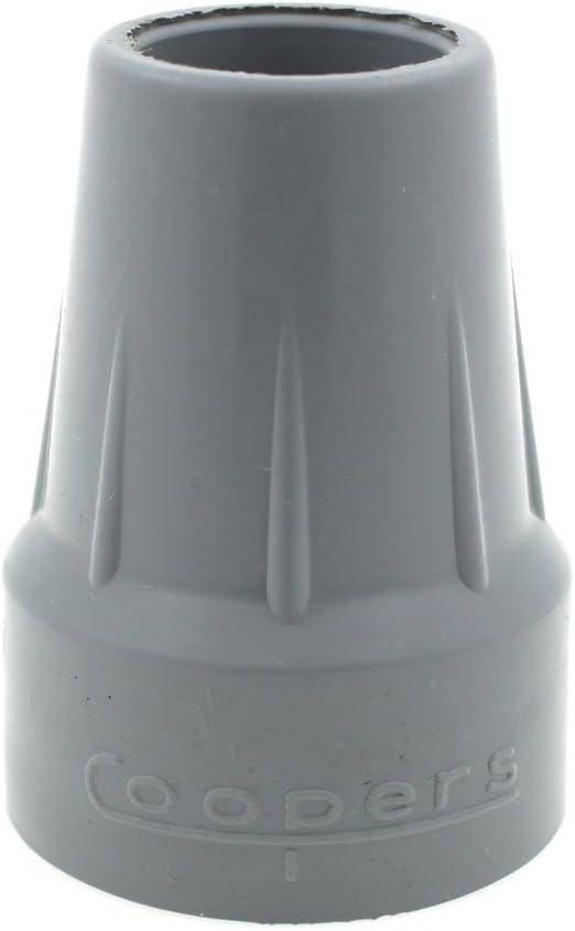 Coopers - Cantidad 2x: 25mm Conteras De Goma Para Muletas Bastones Y Andadores