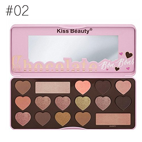 16 Colors Eyeshadow Matte Cream Palette, Staron Makeup Eye Shadow Cosmetic Pearlescent Rotating Make Up Eyeshadow Palette (Multicolor)