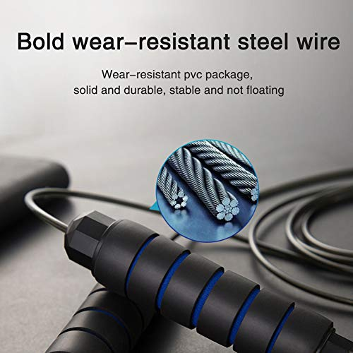 Jump Rope Workout for Adults Fitness - Adjustable Wire Skipping Rope for With Bearing Workout Weighted Can Be Used for Aerobic Exercise and Fitness, Suitable for Men, Women and Children ,2 Pieces