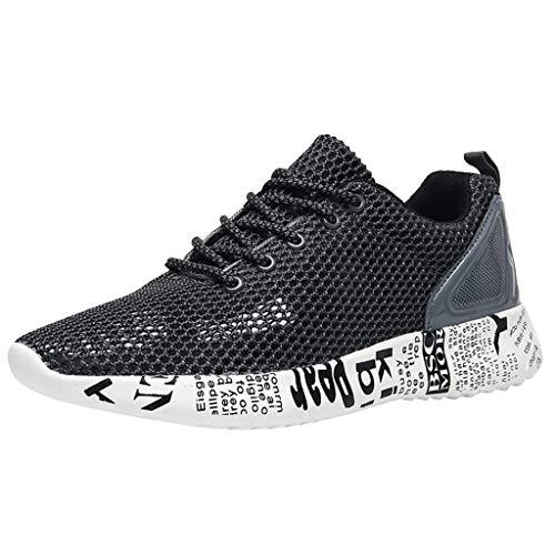JJLIKER Men's Sneakers Mesh Lightweight Breathable Gym Tennis Comfort Walking Beach or Travel Shoe for Summer
