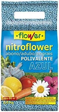 NITROFLOWER. Envase de 2,5 Kilos abono granulado NPK 12-10-18. Fertilizante equilibrado para Huerta y jardín.