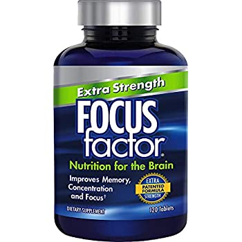 Focus Factor Extra Strength - Memory, Concentration & Focus - DMAE, Vitamin D, DHA, Bacopa & Much More - Trusted Clinically Tested Brain Health Supplement ...