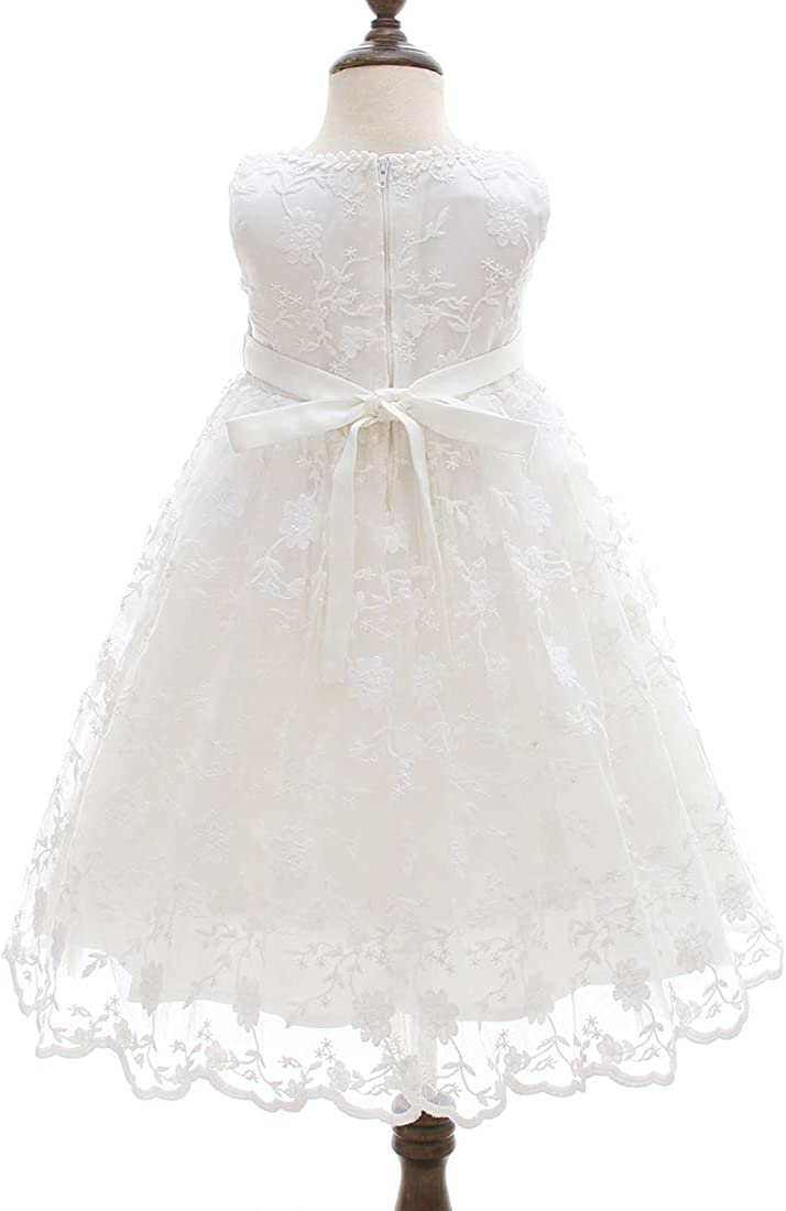 AHAHA Baptism Gowns for Baby Girls Princess Wedding Dress Baby Birthday Party Dresses for Special Occasion