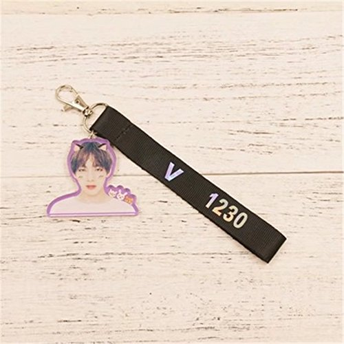 KPOP BTS Bangtan Boys 4th Anniversary Keychain iPhone Mobile Strap Keyring for Halloween Thanksgiving and Christmas (Bts Halloween Party)
