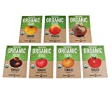 Organic Heirloom Slicing Tomato Garden Seeds – 7 Non-GMO Varieties:...