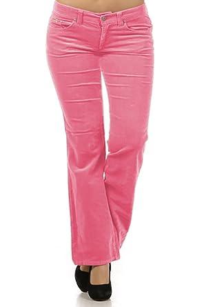 7c46ea52663 Limit 33 Plus Size Juniors Teens Corduroy Pants Low Rise Boot Cut School  Work Pink Size
