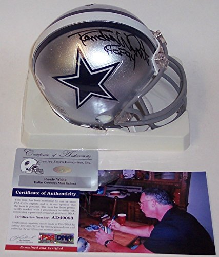 Randy White Autographed Hand Signed Cowboys Mini Helmet - PSA/DNA