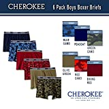 Cherokee Little Boys' 6 Pack Boxer Brief, Camo/Solid Print Pack, S