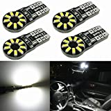 Alla Lighting 4pcs CAN-BUS Error Free T10 Wedge Super Bright High Power 3014 18-SMD 194 168 2825 W5W White LED Bulb Lamp for Car Truck Interior Dome Map Door Courtesy License Plate Lights