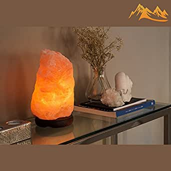 Salt Lamps For Feet : Amazon.com: Himalayan Salt Lamp 7- 8 inches, Neem Wood Base, 1 Bulb, 6 Feet UL Approved Cord ...